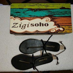 Zigi Soho Women's Sandals Black size 7